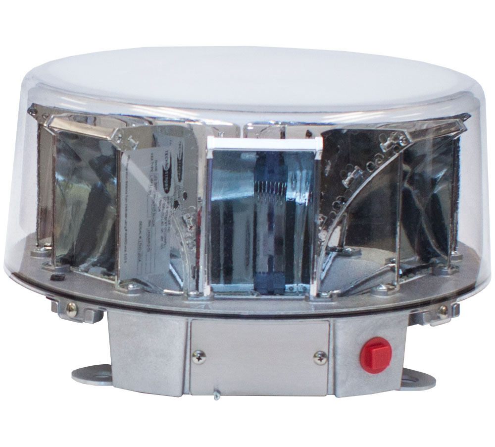 LED HYBRID BEACON (WHITE & RED)